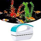 Beslands Práctico Limpiador de Vidrio magnético, Limpiador de Vidrio raspador de Algas para el Acuario y Herramienta de Limpieza