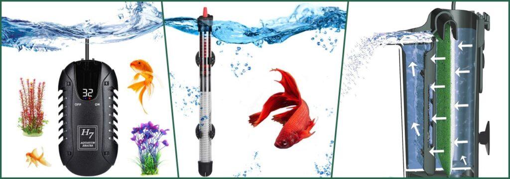 tipos calentador sumergible acuario nano termocalentador