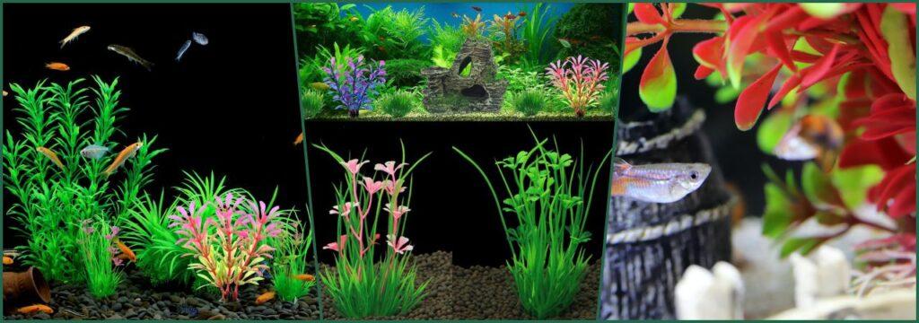 decoracion adorno artificial nano acuarios plantas