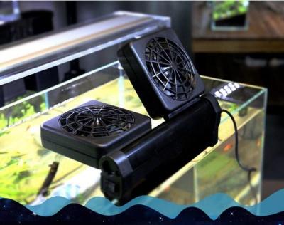 ventilador doble acuario refrigerar pequeño